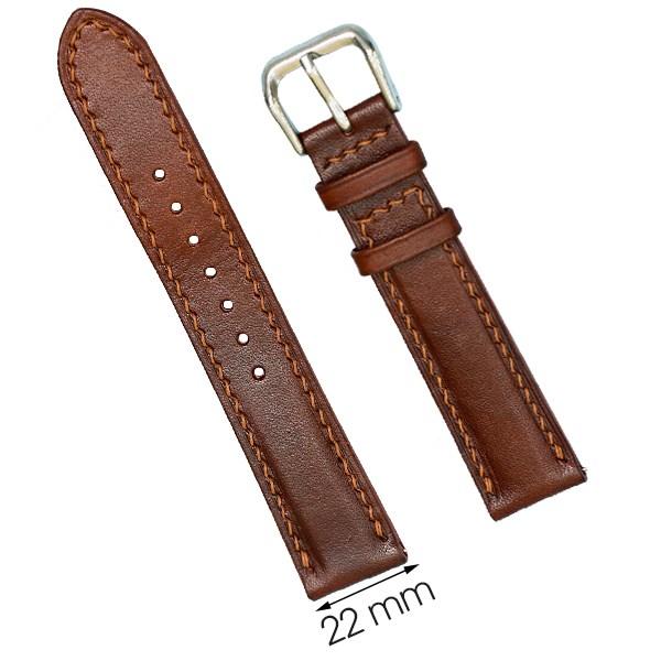 Dây da đồng hồ size 22 mm nâu nhạt DVM3K1