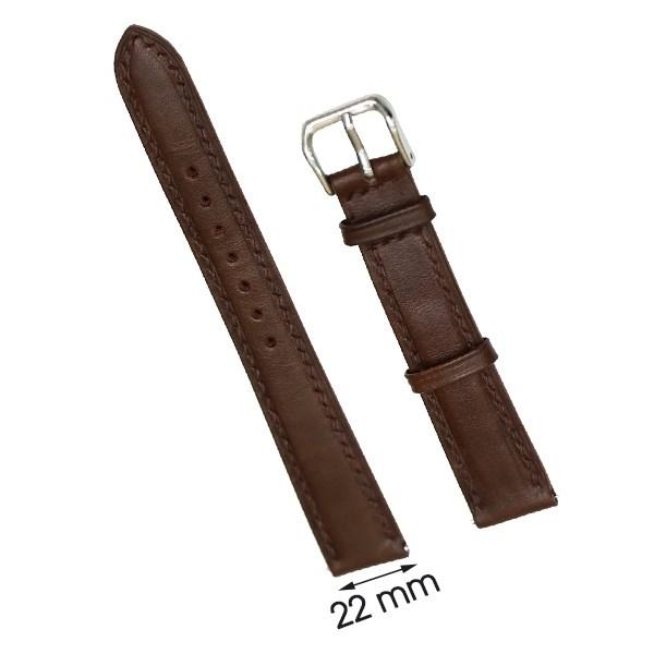 Dây da đồng hồ size 22 mm nâu đậm DVM6K1