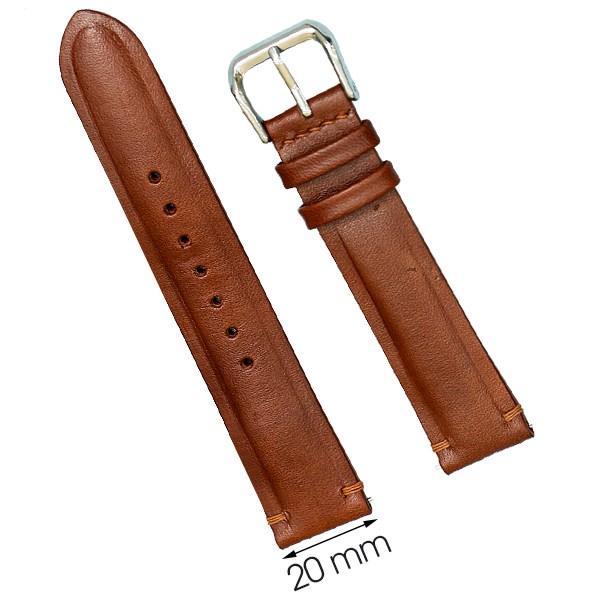 Dây da đồng hồ size 20 mm nâu nhạt DVM6K5