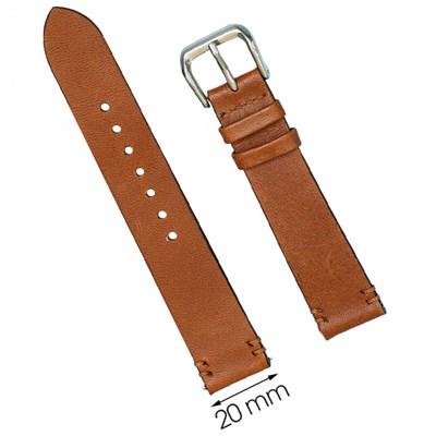 Dây da đồng hồ 20 mm nâu SAM1K6