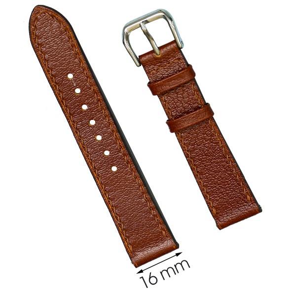 Dây da đồng hồ size 16 mm nâu nhạt CKM1K1