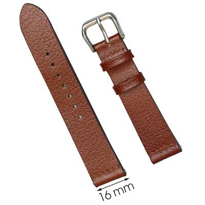 Dây da đồng hồ 16 mm nâu CKM1K3