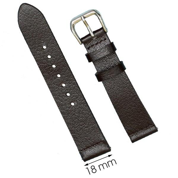 Dây da đồng hồ size 18 mm nâu đậm CKM1K3