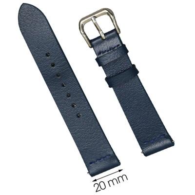 Dây da đồng hồ 20 mm xanh dương CKM1K3