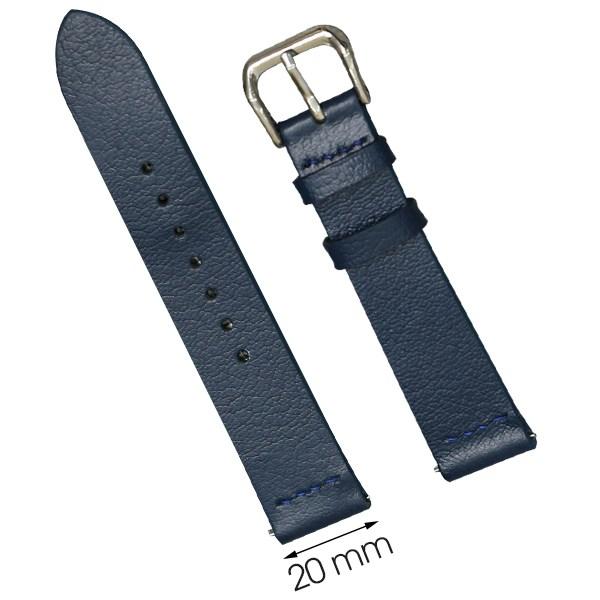 Dây da đồng hồ size 20 mm xanh đậm CKM1K3