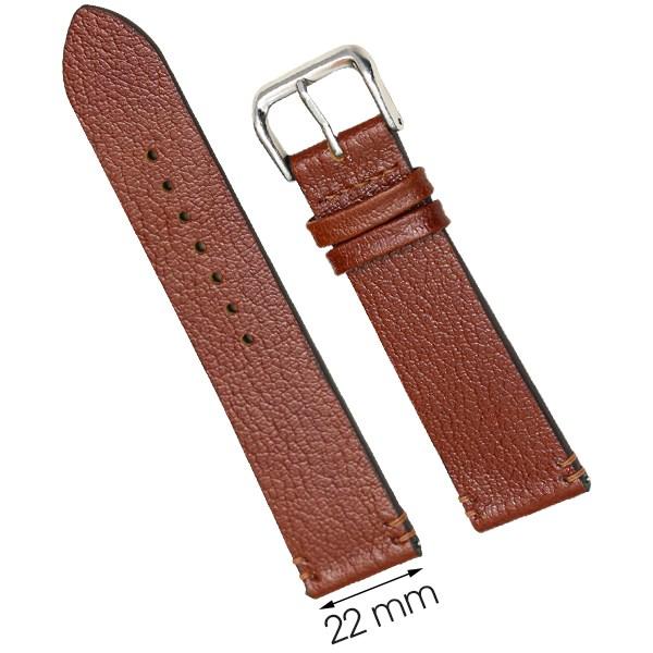 Dây da đồng hồ size 22 mm nâu nhạt CKM1K6