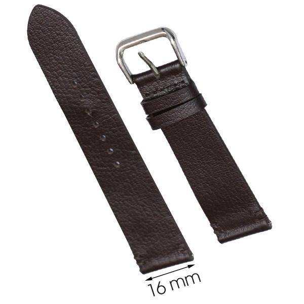 Dây da đồng hồ size 16 mm nâu đậm CKM1K6