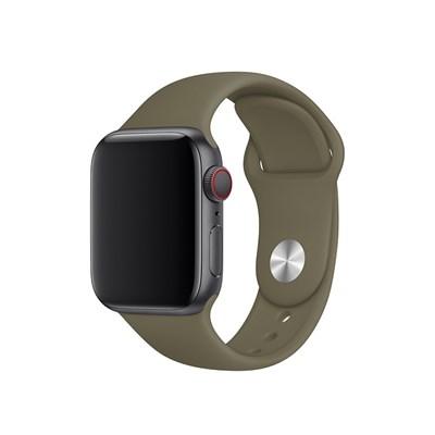 Dây silicone đồng hồ Apple 38-40 mm nâu MWUL2 (chính hãng Apple)