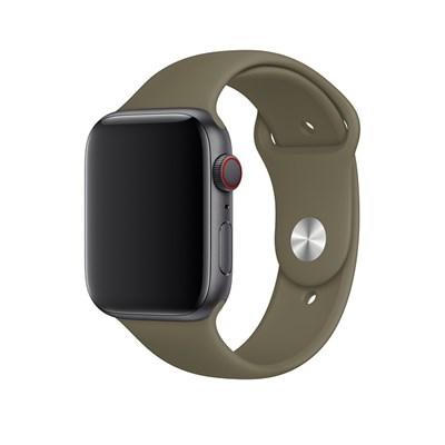 Dây silicone đồng hồ Apple 42-44 mm nâu MWUP2 (chính hãng Apple)
