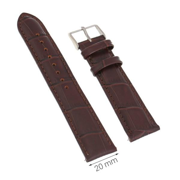 Dây da đồng hồ size 20 mm Nâu M1012.42
