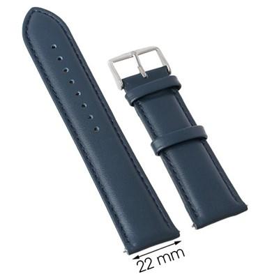 Dây da đồng hồ 22 mm xanh dương M1100.43