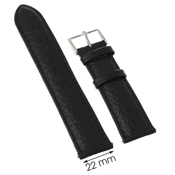 Dây da đồng hồ size 22 mm Đen M1500.41