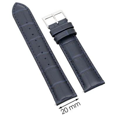Dây da đồng hồ 20 mm xanh đậm L003-05-20