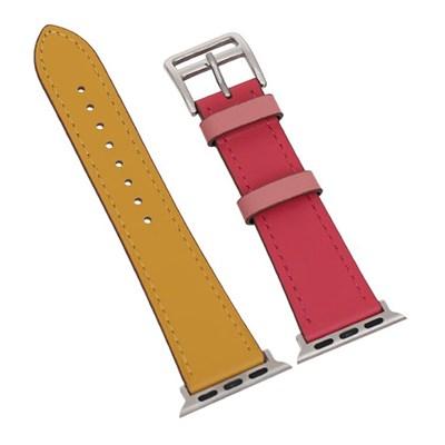Dây da đồng hồ Apple 40 mm cam vàng M07-01-40
