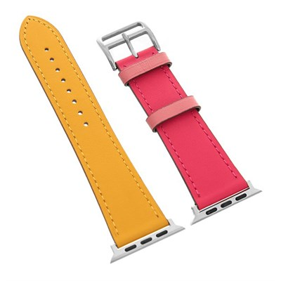 Dây da đồng hồ Apple 44 mm cam vàng M07-01-44