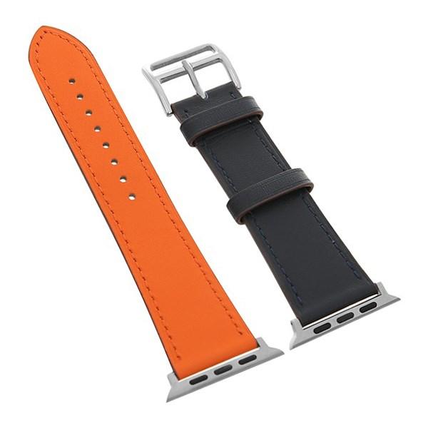 Dây da đồng hồ Apple 44 mm cam xanh M07-02-44