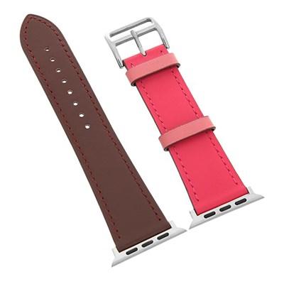 Dây da đồng hồ Apple 44 mm đỏ nâu M07-04-44