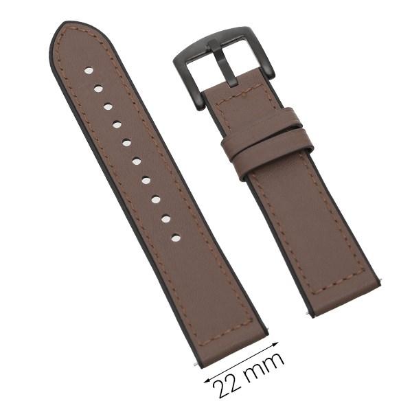 Dây da đồng hồ Samsung/Huawei/khác 22 mm nâu M06-03-22