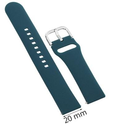 Dây silicone đồng hồ Samsung/Huawei/khác 20 mm xanh M04-01-20