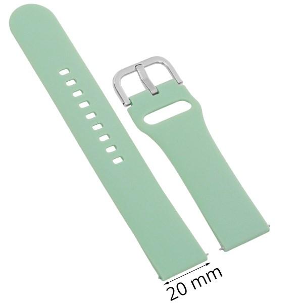Dây silicone đồng hồ Samsung/Huawei/khác size 20mm Xanh Lam M04-02-20