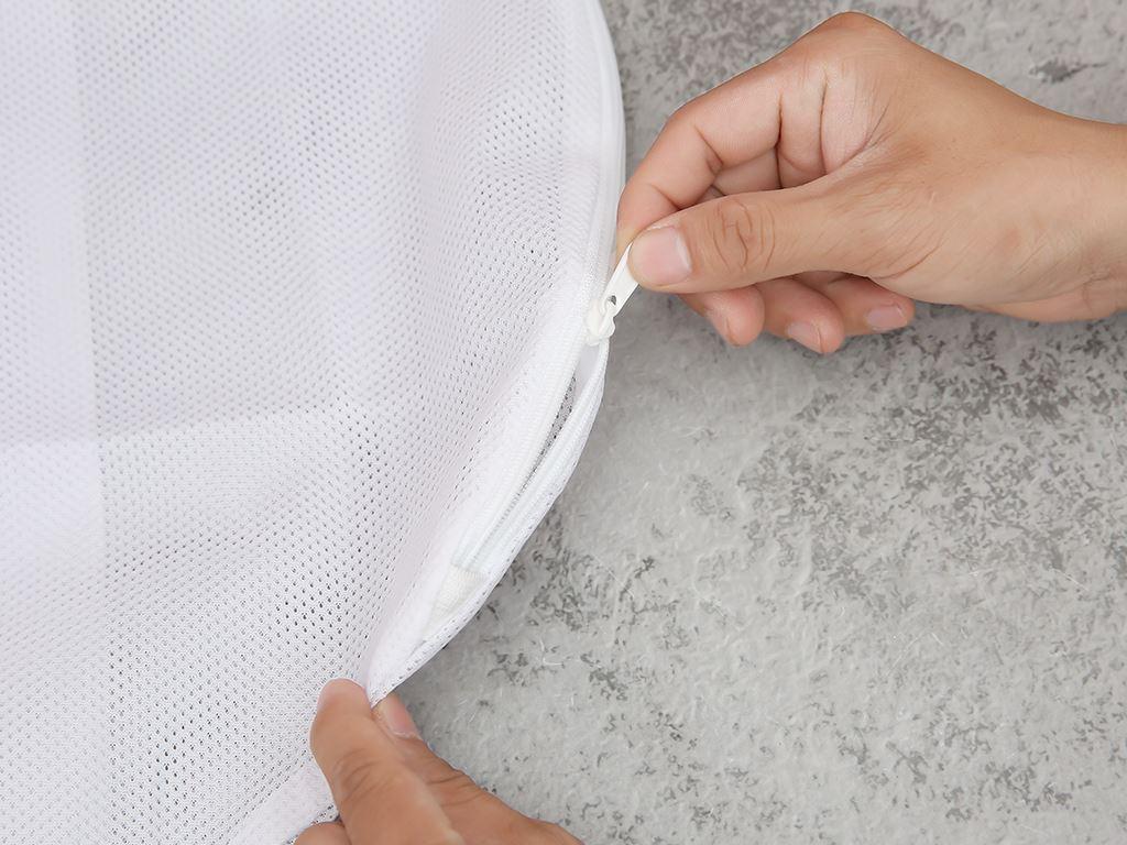 Túi giặt vải lưới cầu tròn NNB 25x27x40 cm 3