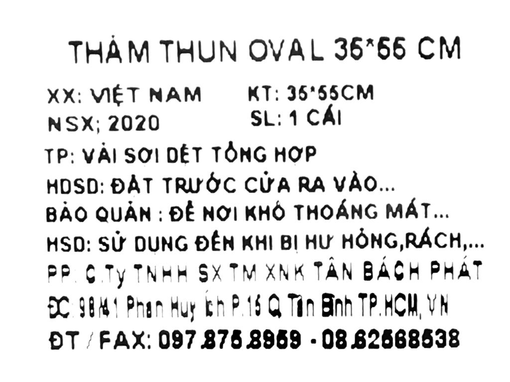 Thảm thun Tân Bách Phát 35x55cm (giao màu ngẫu nhiên) 5