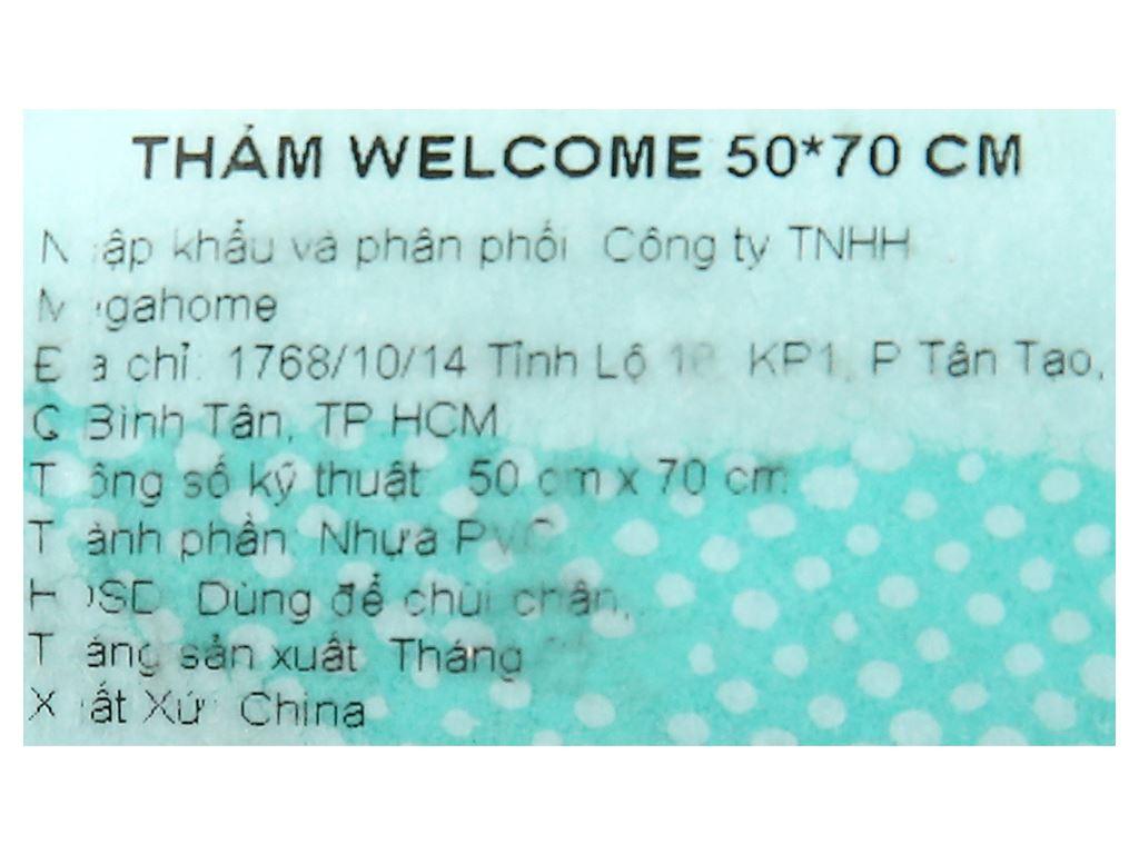 Thảm welcome nhựa Megahome 49.5x69cm (giao màu ngẫu nhiên) 5