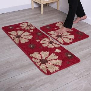 Bộ thảm bếp hoa văn Megahome 05 40x120cm và 40x60cm
