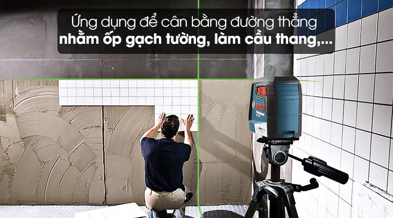 Máy cân mực laser tia xanh Bosch GLL 30 G - Đáp ứng nhu cầu trong ngành xây dựng