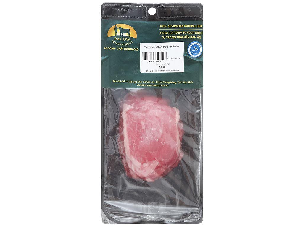 Thịt ba chỉ bò Úc Pacow khay 250g 1