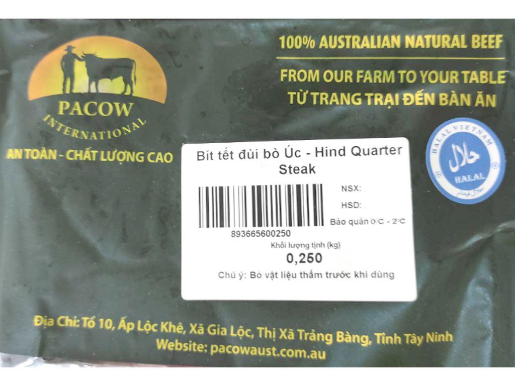 Bít tết đùi bò Úc Pacow khay 250g 7