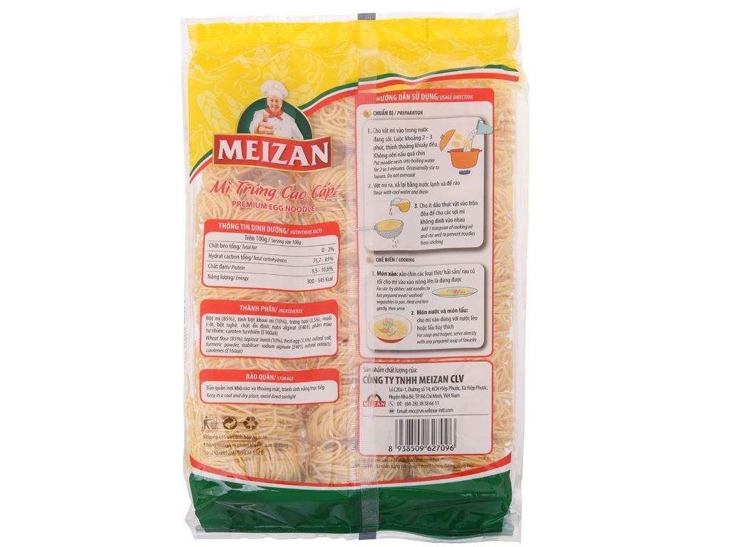 Mì trứng cao cấp Meizan gói 500g 3