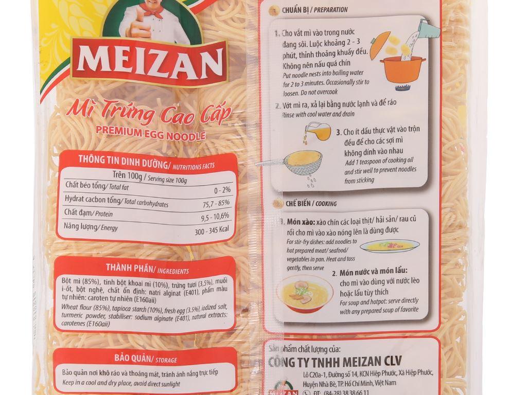Mì trứng cao cấp Meizan gói 500g 4