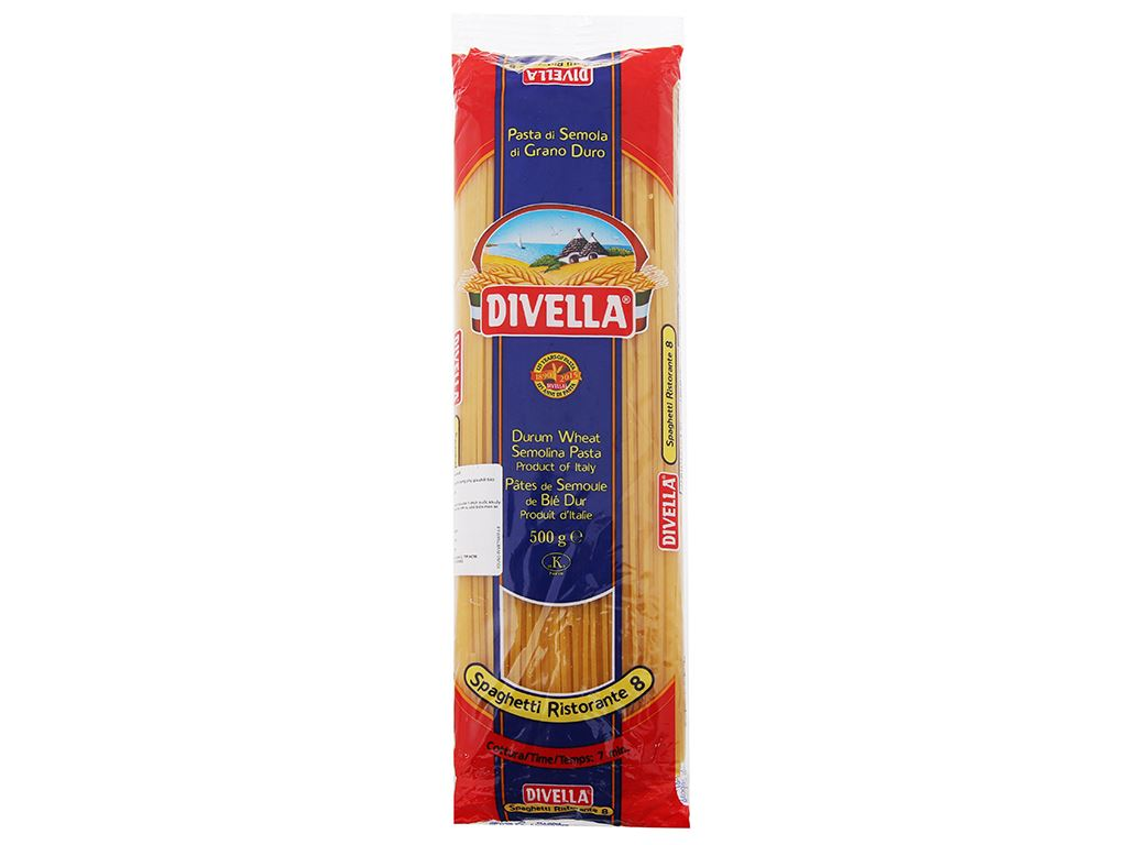 Mì Divella Spaghetti Ristorante 8 gói 500g 2