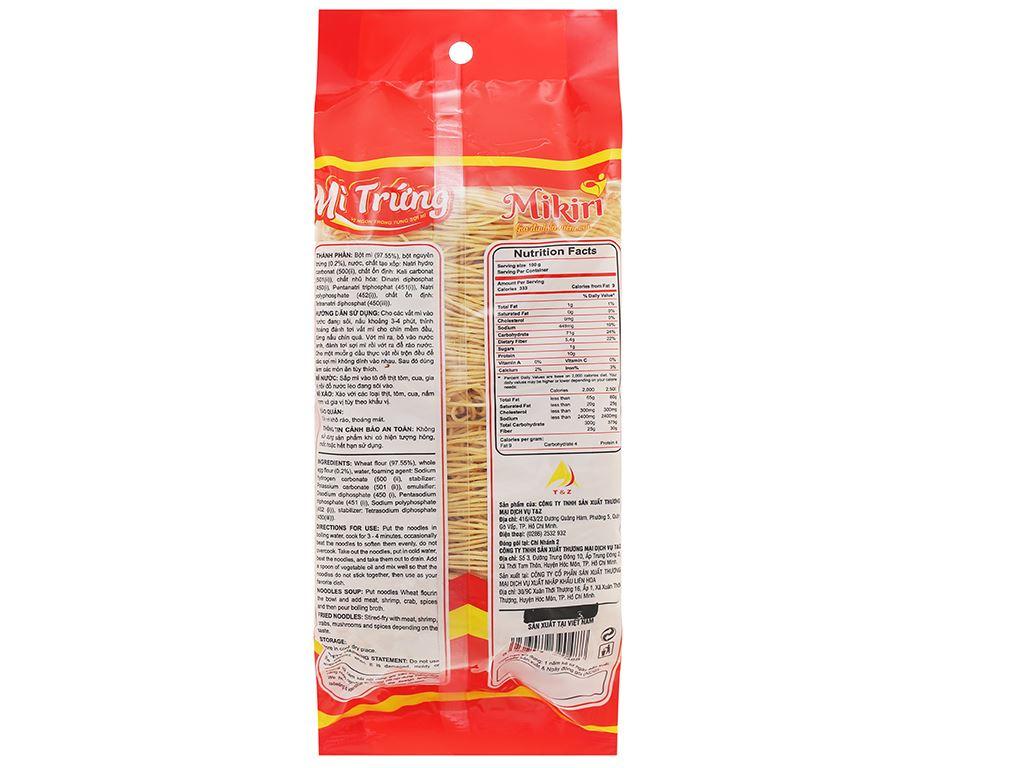 Mì trứng sợi tròn cao cấp Mikiri gói 350g 2