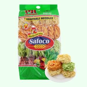 Mì rau củ sợi dẹp Safoco 163299 gói 500g