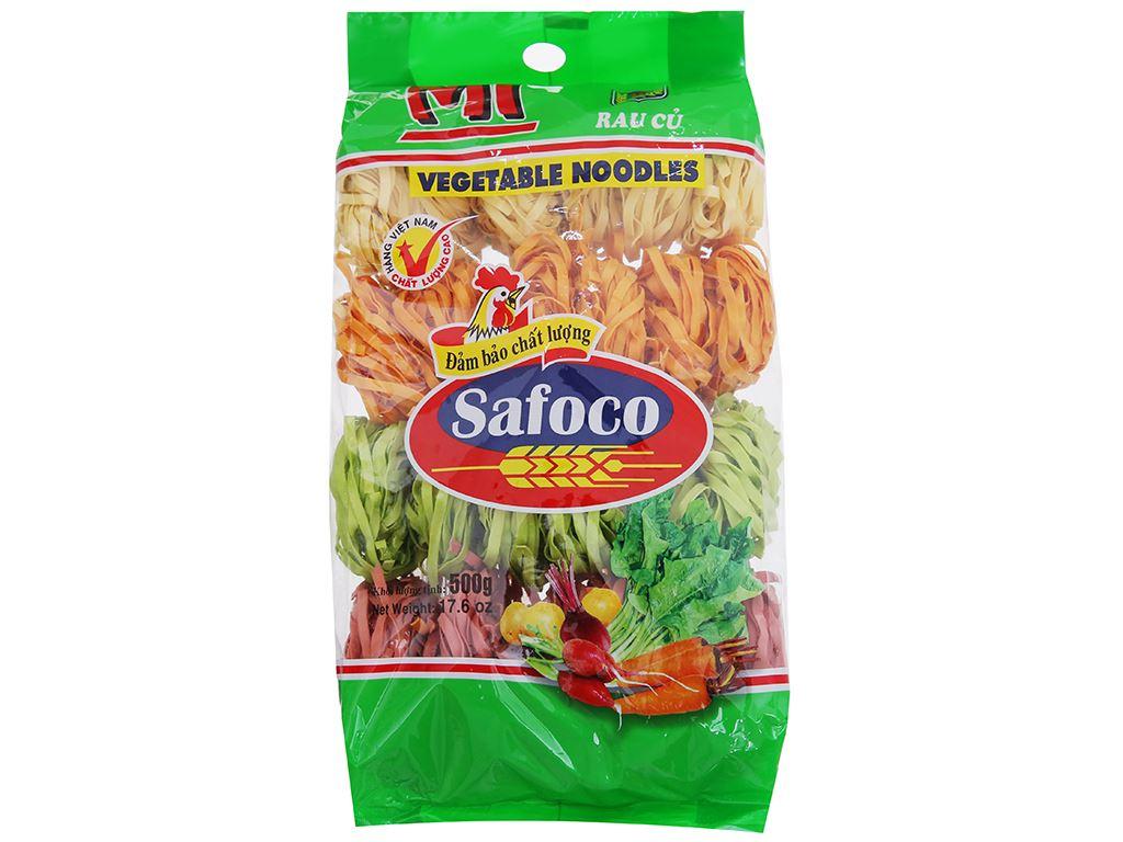 Mì rau củ sợi dẹp Safoco gói 500g 1
