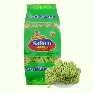 Mì rau xanh sợi dẹp Safoco 163299 gói 250g