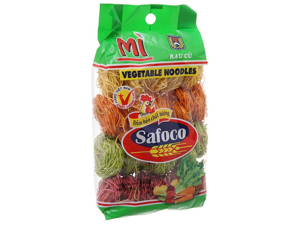 Mì rau củ sợi nhỏ Safoco gói 500g 2