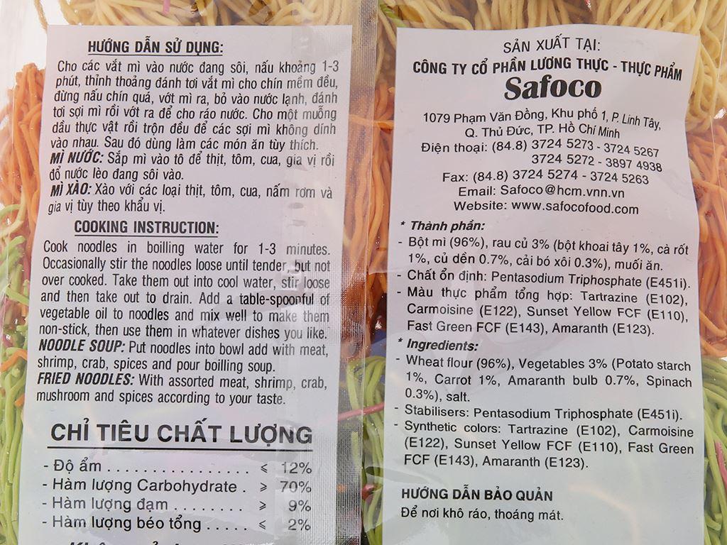 Mì rau củ sợi nhỏ Safoco gói 500g 5