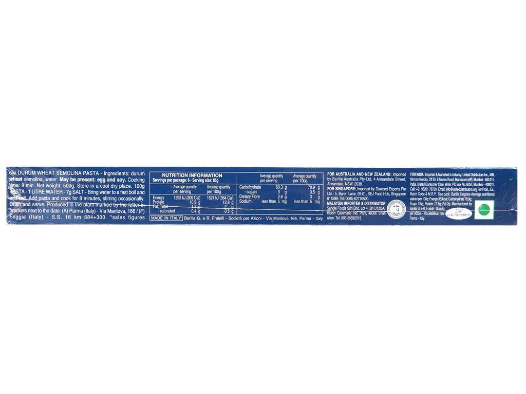 Mì Linguine sợi dẹp số 13 Barilla 163299 hộp 500g 7