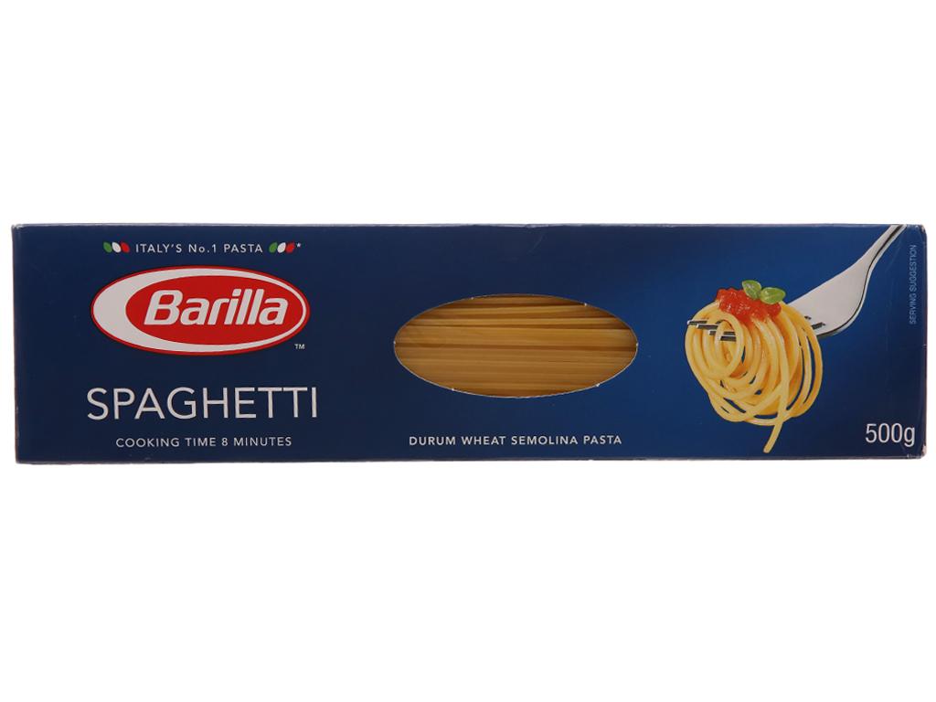 Mì Spaghetti Barilla hộp 500g 2