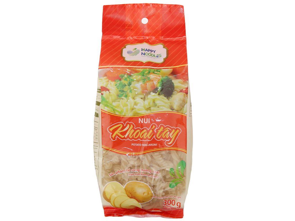 Nui khoai tây dạng xoắn Happy Noodles gói 300g 1