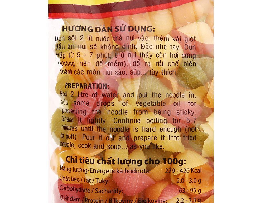 Nui rau củ hình sò lớn Bốn mùa Erci gói 200g 3