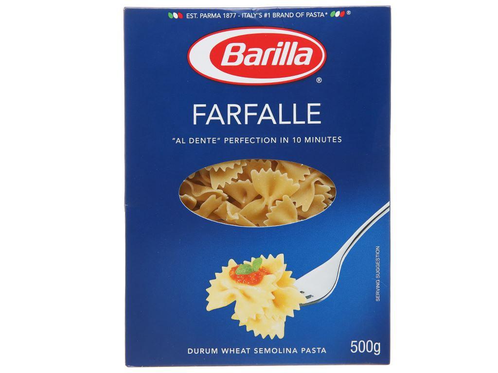 Nui hình nơ Farfalle Barilla hộp 200g 1