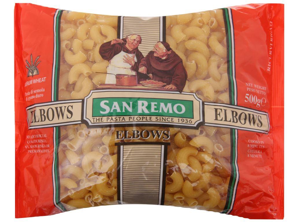 Nui chữ C Elbows số 35 San Remo gói 500g 2