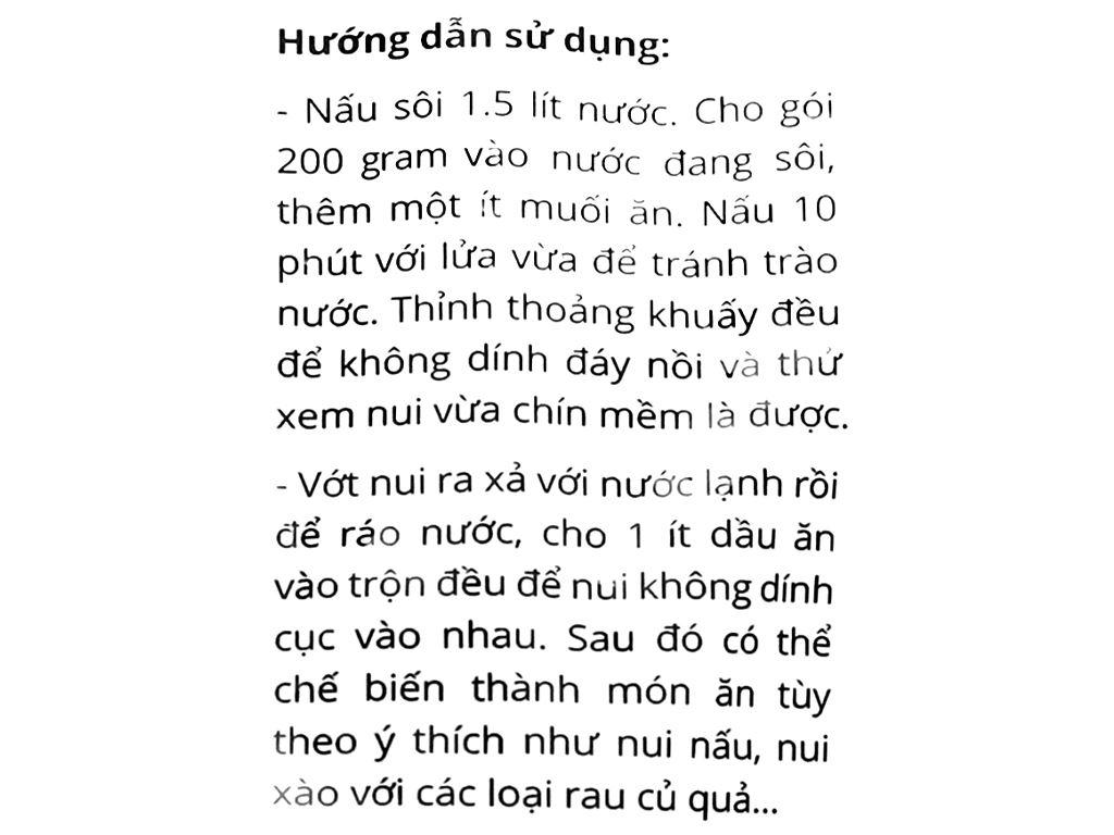 Nui chữ C Bà Bảy gói 200g 4