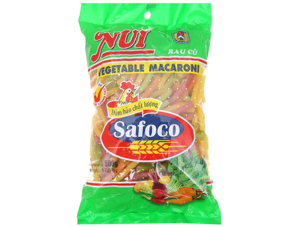 Nui rau củ ống lớn Safoco gói 500g 1