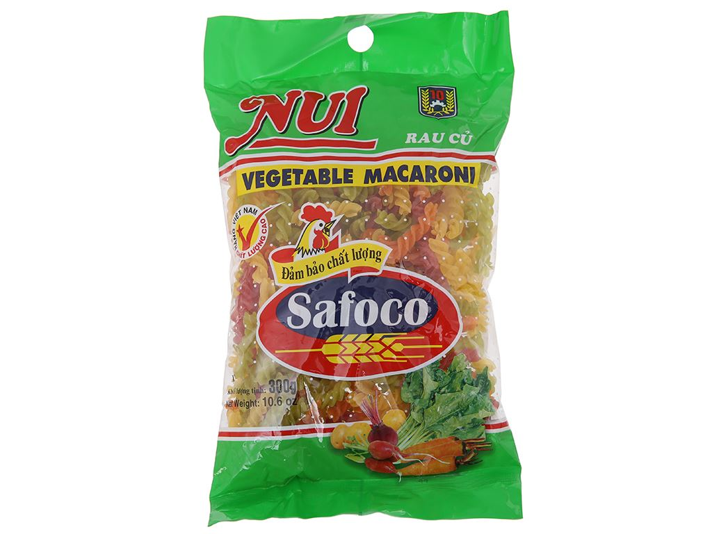 Nui rau củ xoắn Safoco gói 300g 1