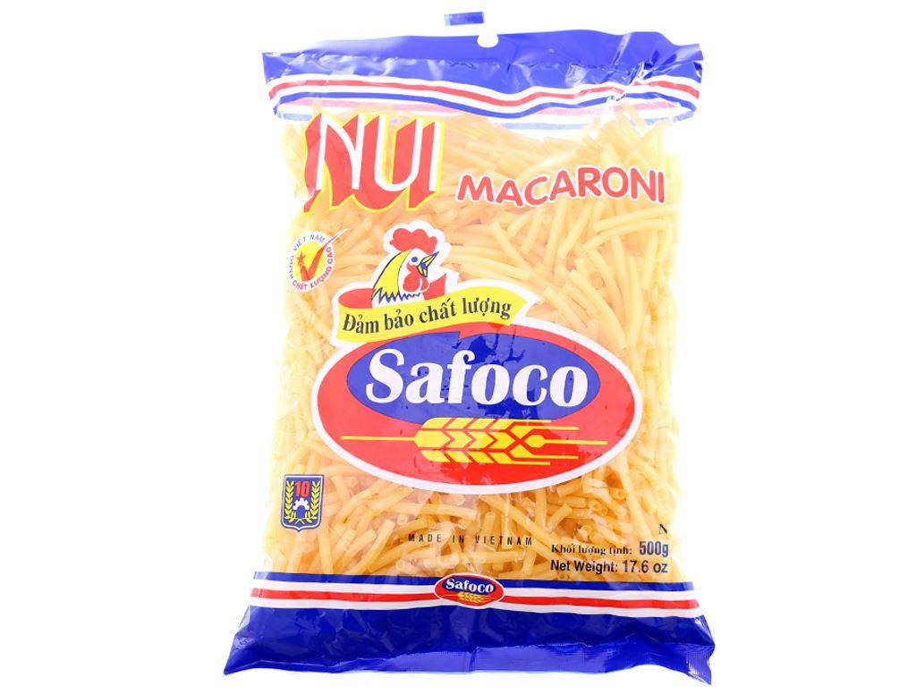 Nui ống nhỏ Macaroni Safoco gói 500g 1